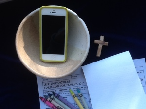 Lent bowl phone